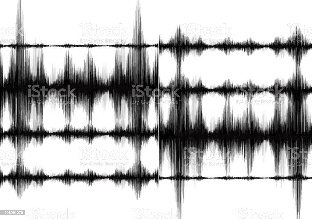 Super Minimal Erdbeben Wave Auf Weißem Papierhintergrund Audio ...
