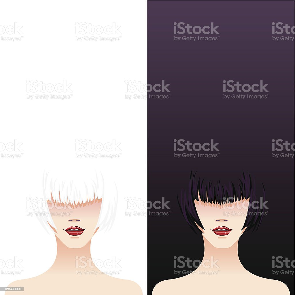 super models with copy space royalty-free stock vector art