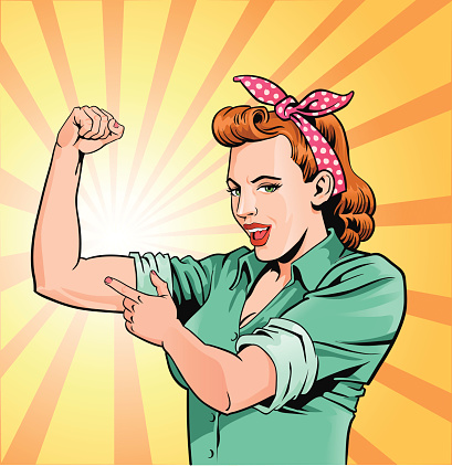 Super Mom - Mother Flexing Muscles