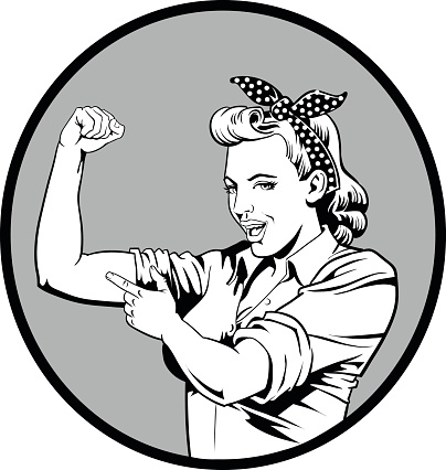 Super Mom Showing Her Muscles
