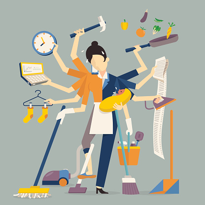 busy lifestyle stock illustrations
