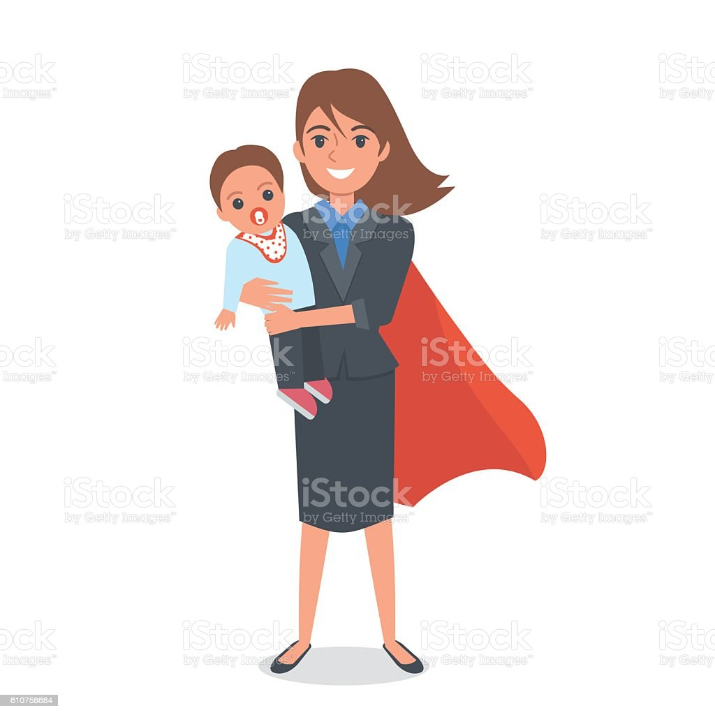 Super maman - Illustration vectorielle