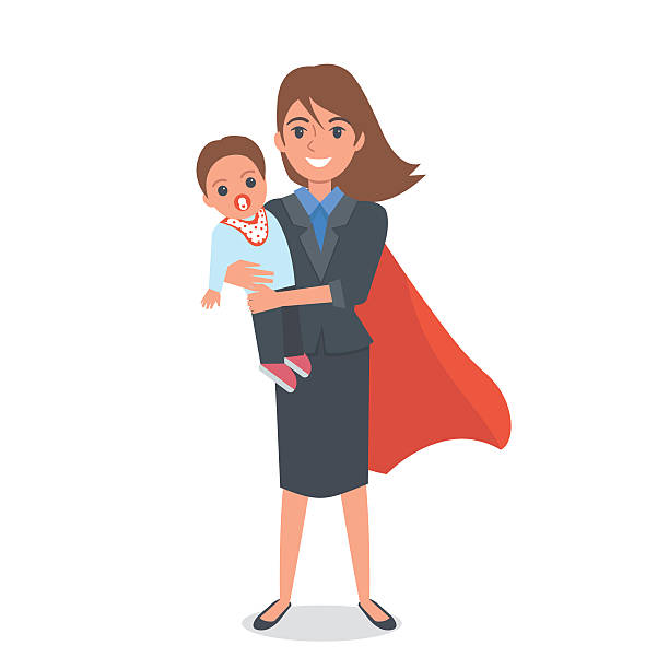 Working Mother Illustrations, Royalty-Free Vector Graphics