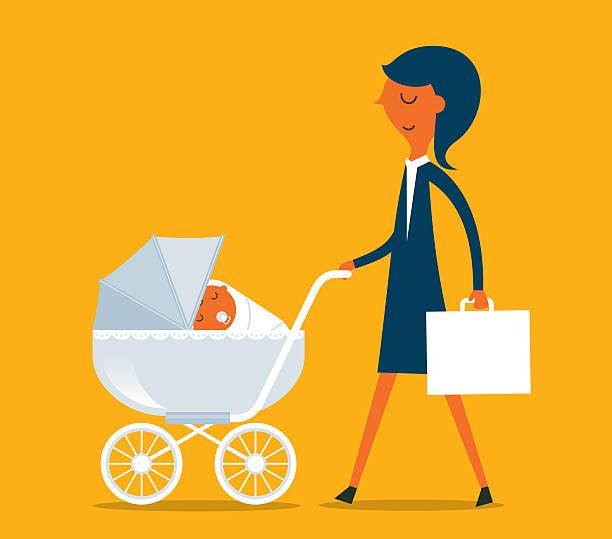 Super Mother vector art illustration