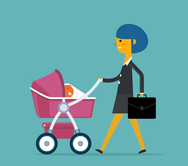 illustrations, cliparts, dessins animés et icônes de super maman - femmes actives