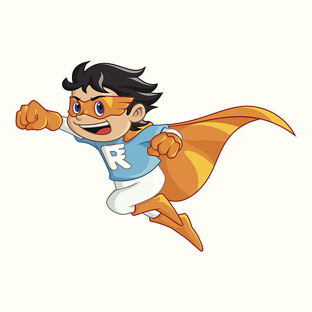 Super Rush Boy vector art illustration