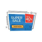 Super Sale 40% Banner