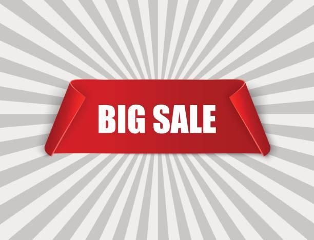 ilustraciones, imágenes clip art, dibujos animados e iconos de stock de venta super banner cinta. desplazamiento de vectores illustration.red - gran inauguración