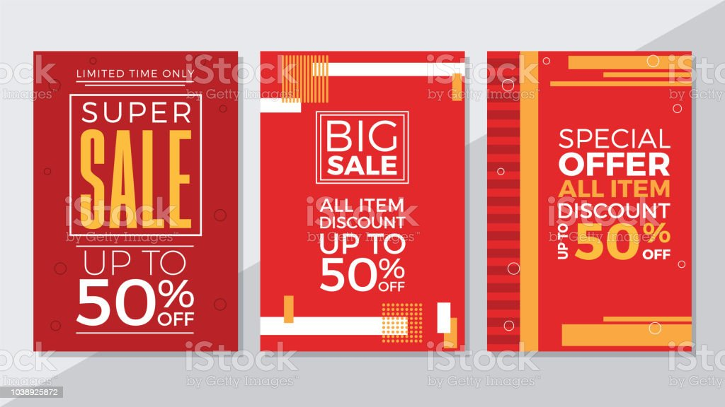 Super Sale Big Sale And Special Offer Flyer Template Stock Vector