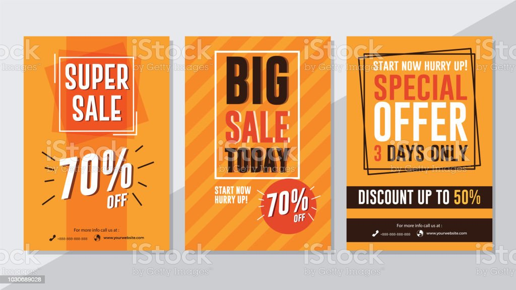 Super Sale Big Sale Today And Special Offer Flyer Template Stock