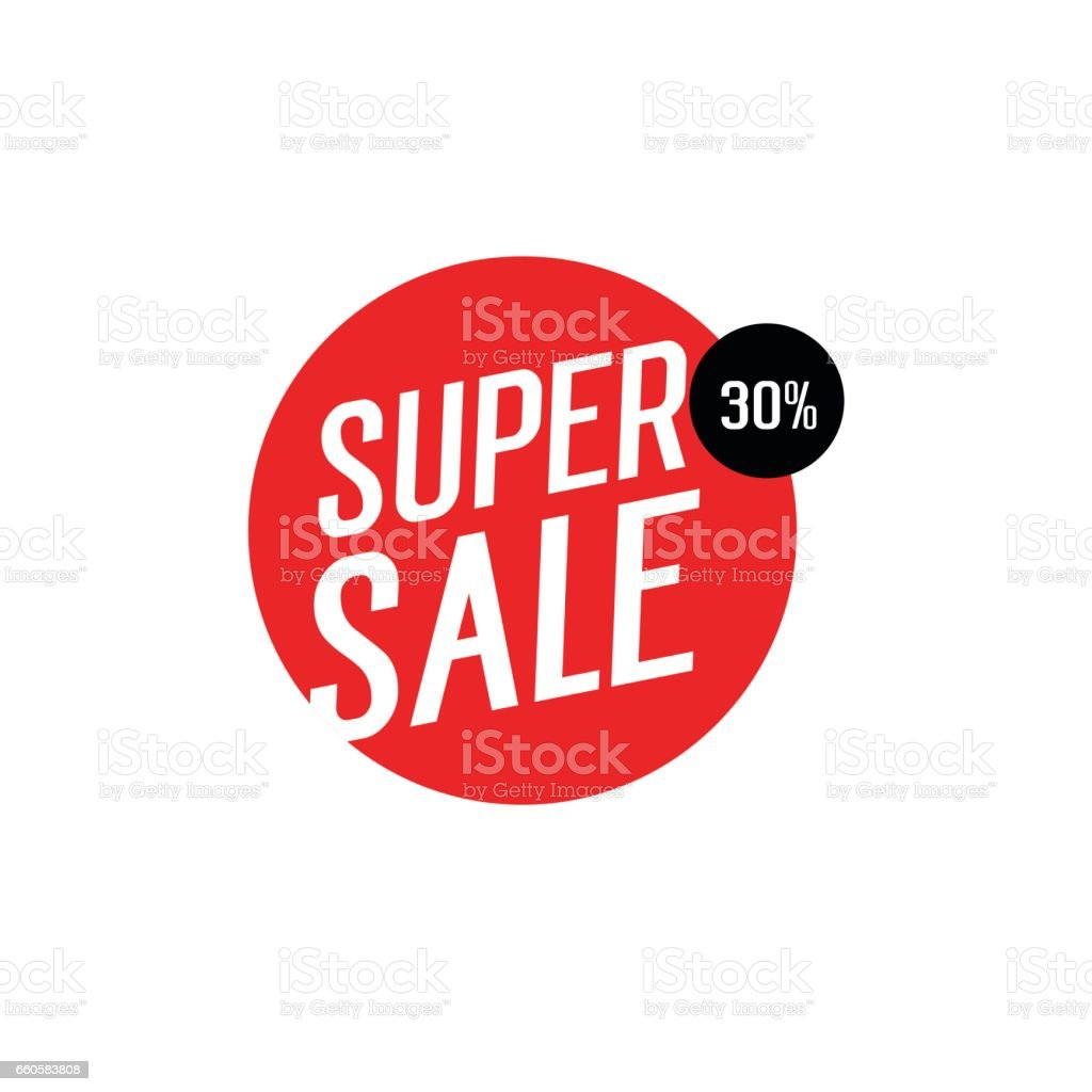 Super Sale Lettering in Circle royalty-free super sale lettering in circle stock vector art & more images of business