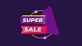 Super Sale product offer background badge