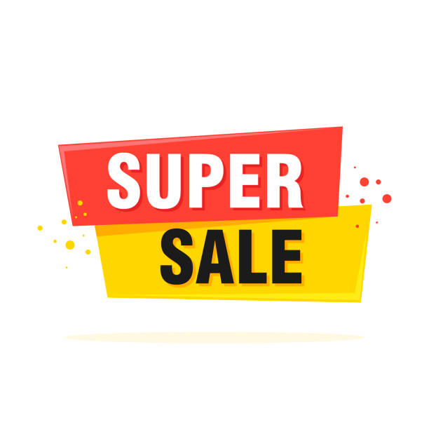 illustrazioni stock, clip art, cartoni animati e icone di tendenza di super sale, special offer banner - vector illustration - sales