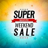 istock Super sale summer background 1308091672