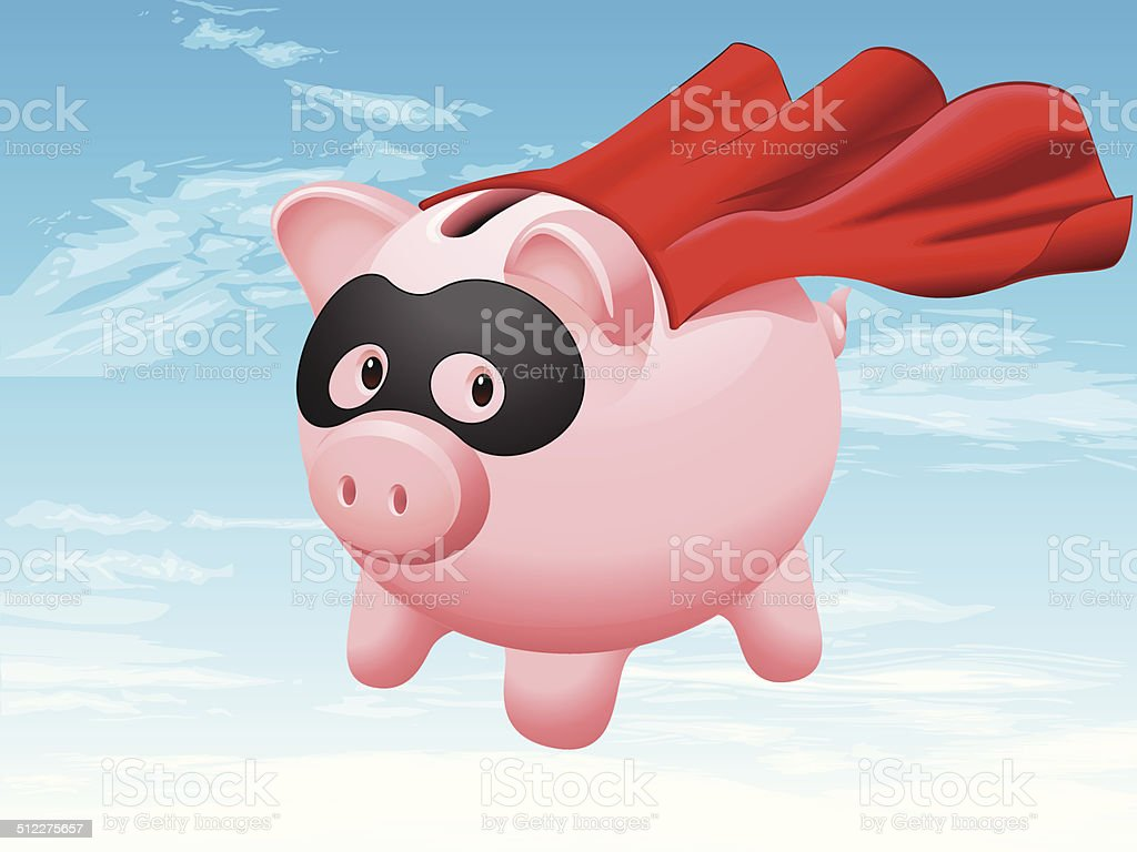 Super Saver vector art illustration