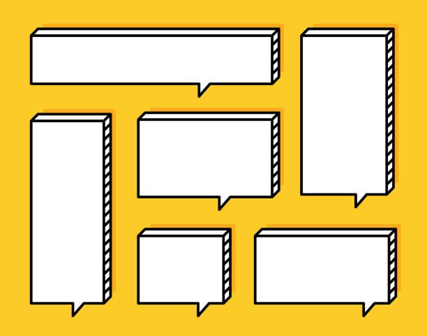 illustrazioni stock, clip art, cartoni animati e icone di tendenza di super set different shape geometric texting boxes. quote box speech bubble. modern flat style vector illustration - titolo mondiale