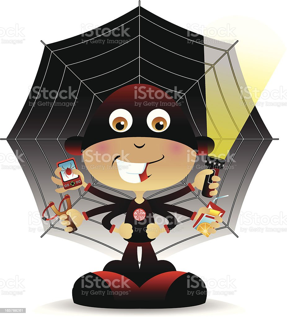 Super Spider Dude royalty-free super spider dude stock vector art & more images of cartoon