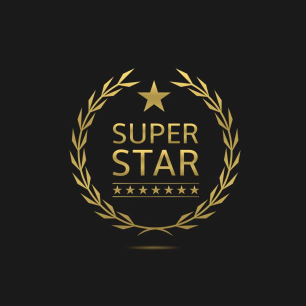 super star-emblem - paphos stock-grafiken, -clipart, -cartoons und -symbole