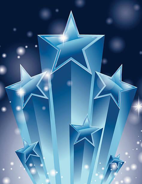 Super stars burst sparkle vector art illustration