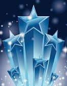 Super stars burst sparkle