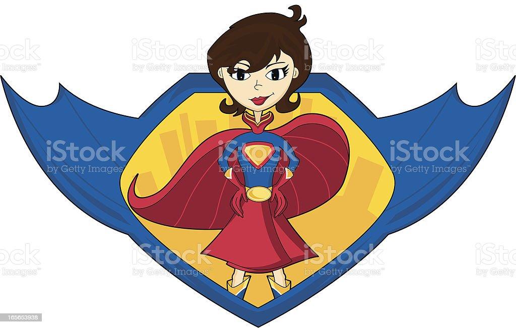 Super Woman Hero Graphic vector art illustration