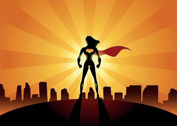 super frau der stadt - superwoman stock-grafiken, -clipart, -cartoons und -symbole