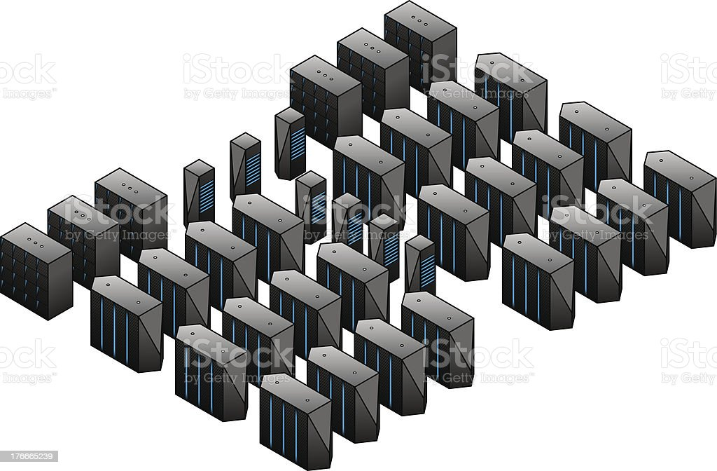 Supercomputing Cluster royalty-free supercomputing cluster stock vector art & more images of balance