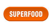 superfood button. superfood rounded orange sign. superfood