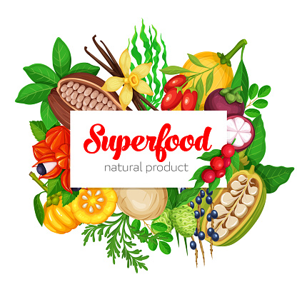 Superfood stock illustrations
