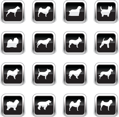 Supergloss Black Icons - Dogs