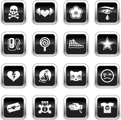 Supergloss Black Icons - Emo