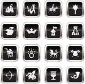 Supergloss Black Icons - Medieval Fairytale