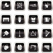 Supergloss Black Icons - Musical Instruments