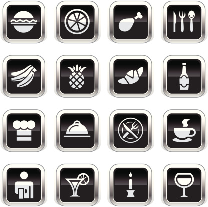 Supergloss Black Icons - Restaurant
