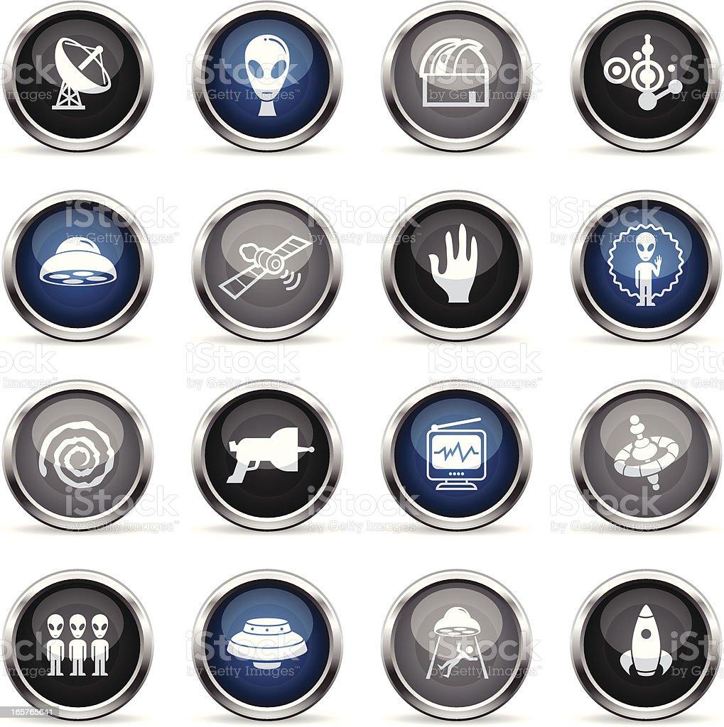 Supergloss Icons - Alien Contact vector art illustration