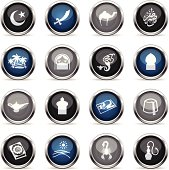 Illustration of different Arabian related icons.
