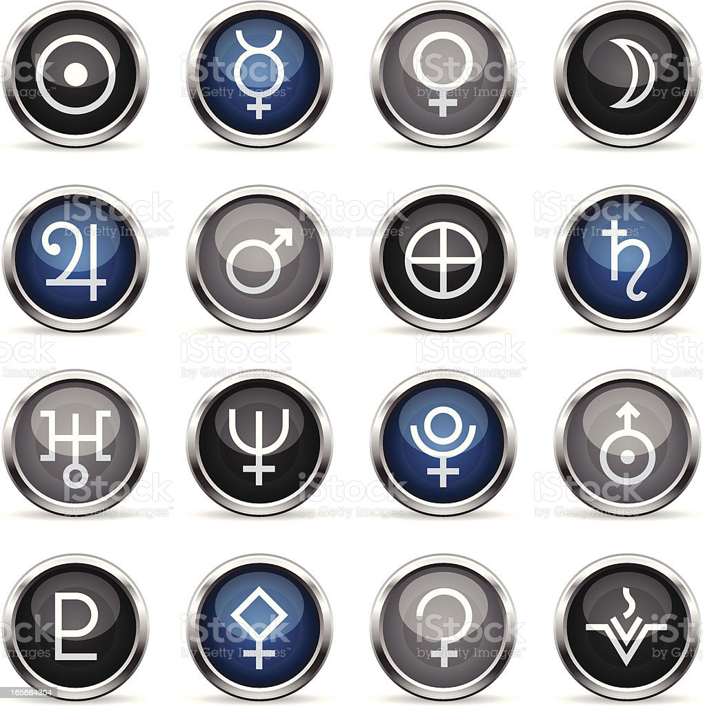 Supergloss Icons - Astrology Planets royalty-free stock vector art