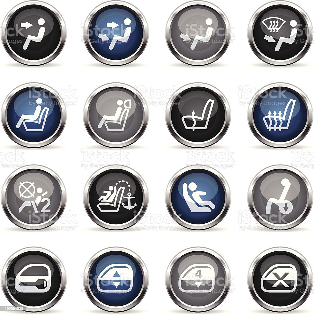 Supergloss Icons - Car Control Indicators royalty-free stock vector art