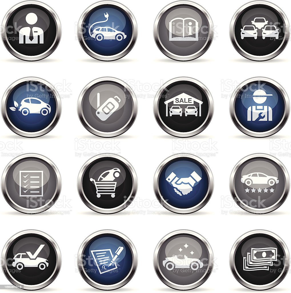 Supergloss Icons - Car Dealership royalty-free supergloss icons car dealership stock vector art & more images of adult