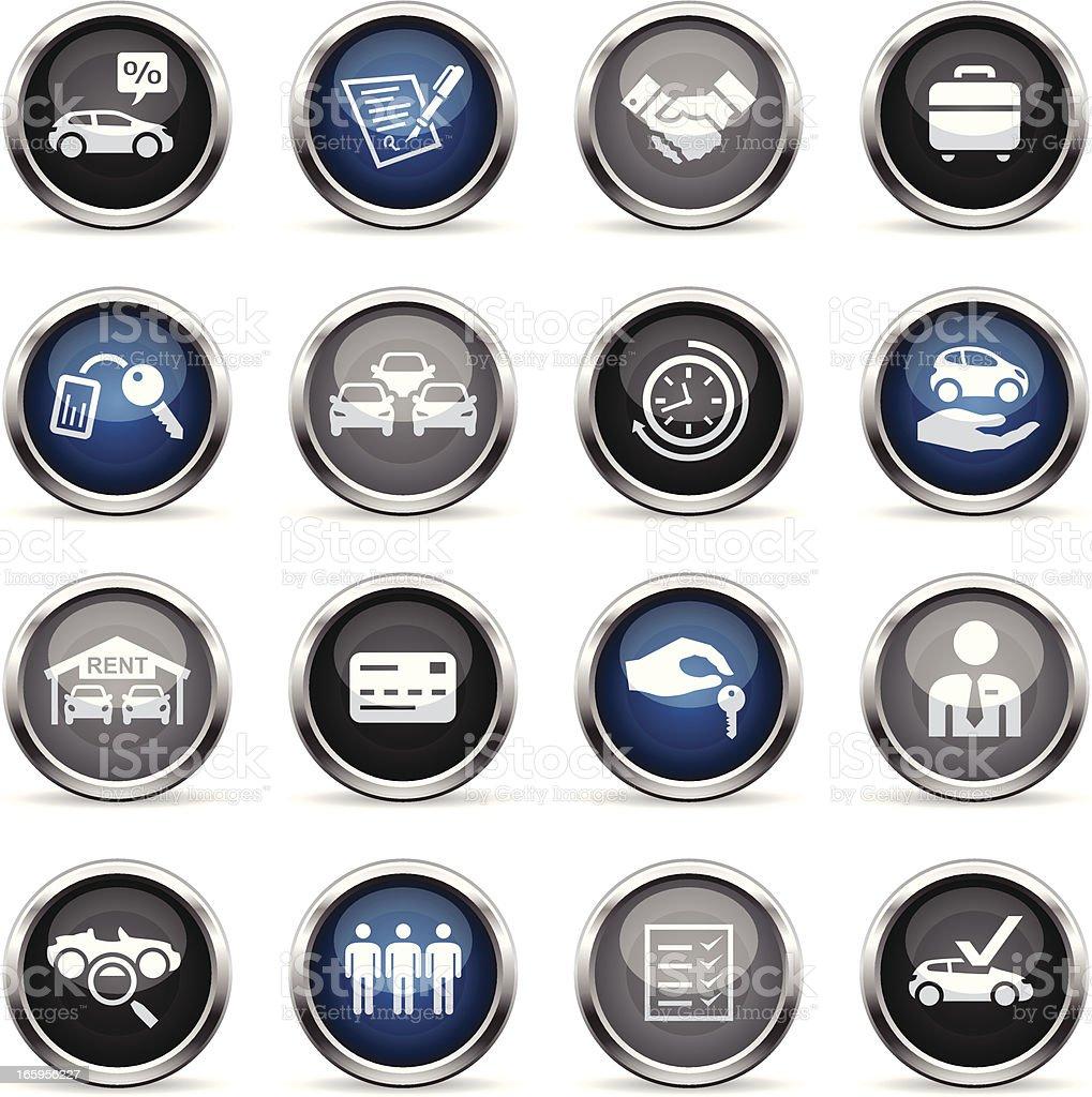 Supergloss Icons - Car Rental royalty-free stock vector art