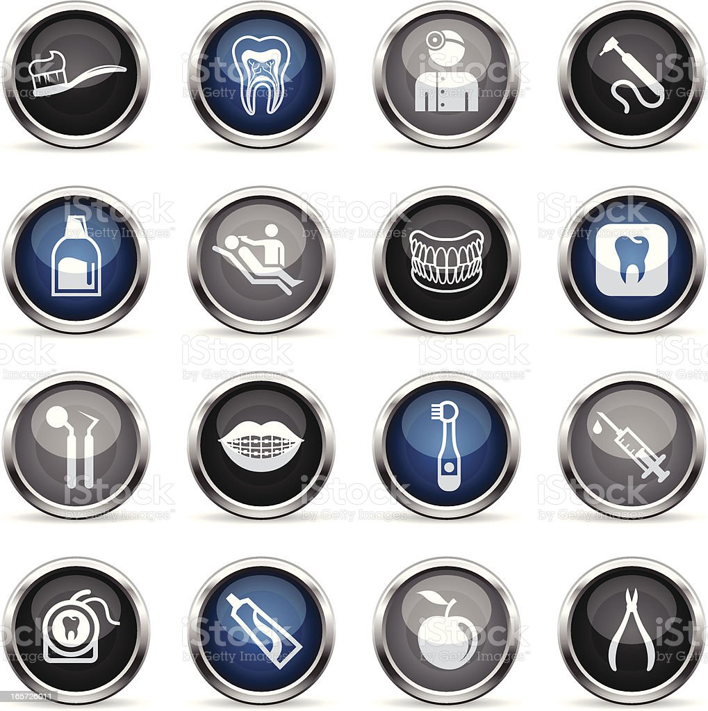 Supergloss Icons - Dental Care royalty-free stock vector art
