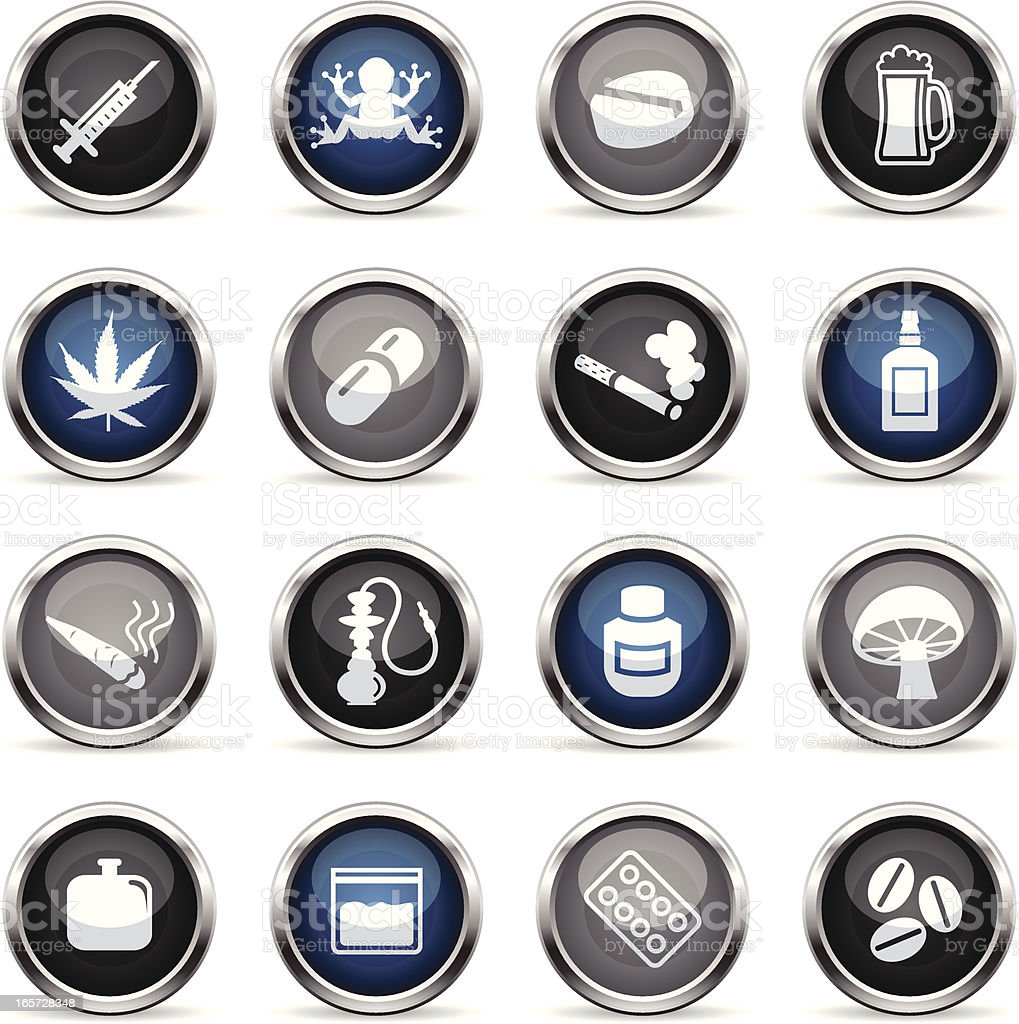 Supergloss Icons - Drugs royalty-free supergloss icons drugs stock vector art & more images of alcohol