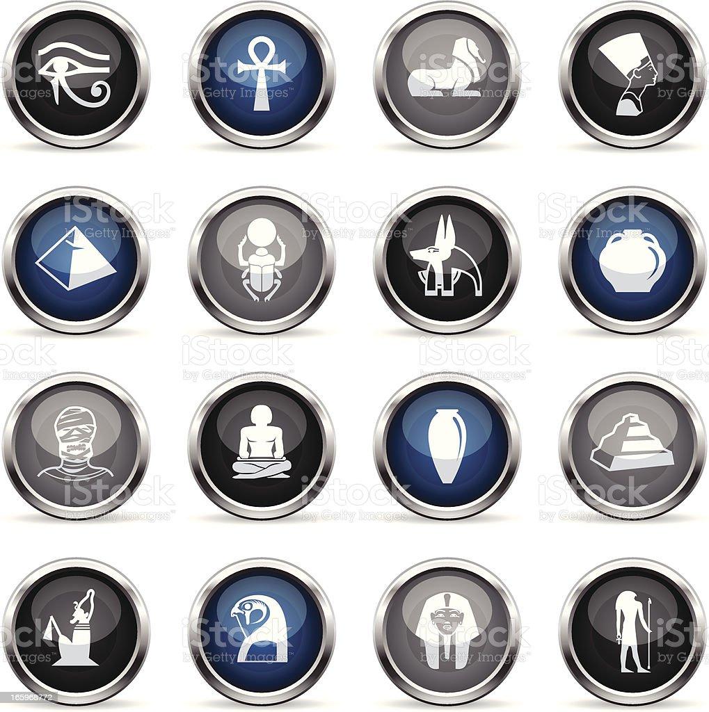 Supergloss Icons - Egypt royalty-free stock vector art
