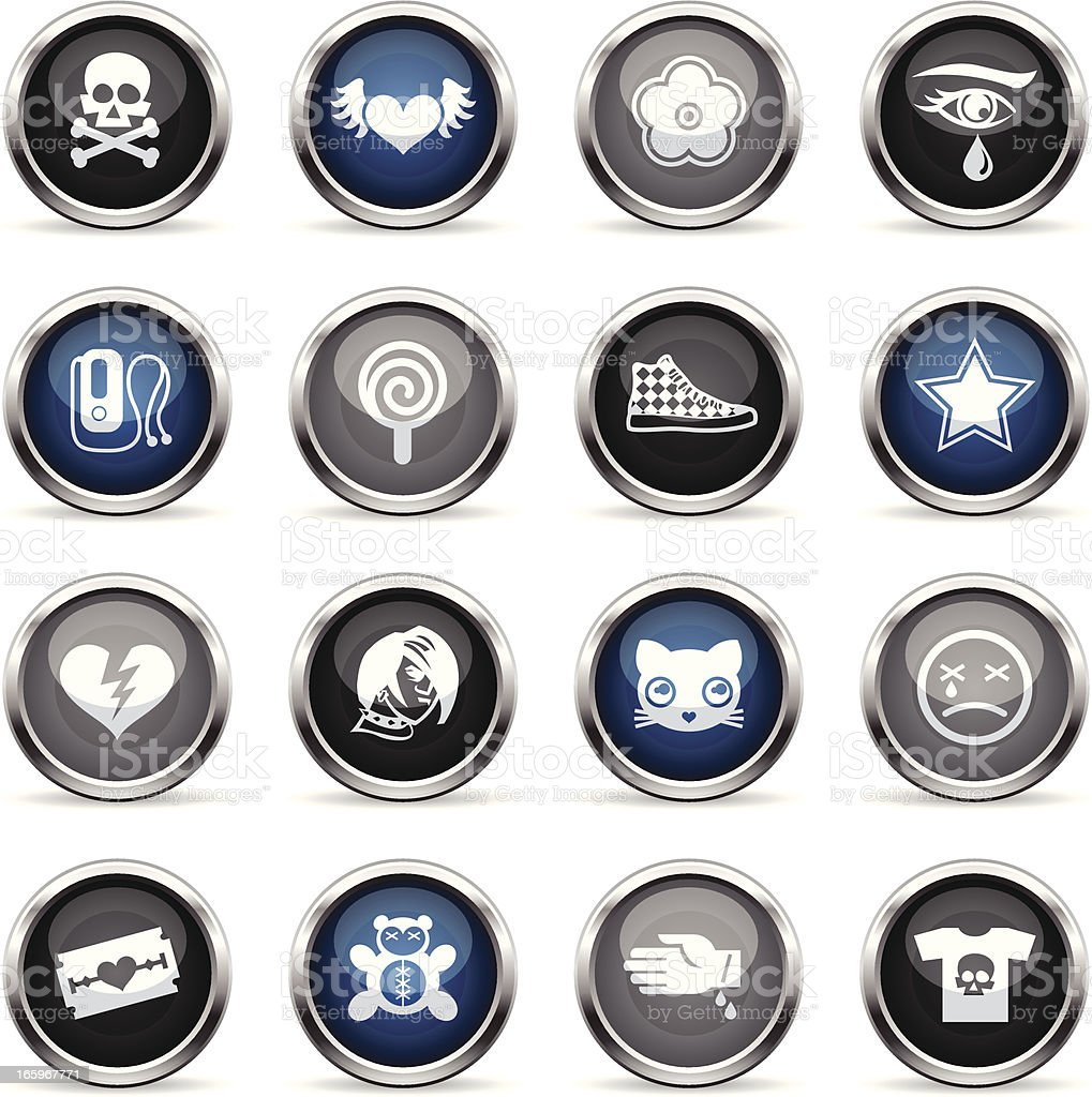 Supergloss Icons - Emo royalty-free stock vector art