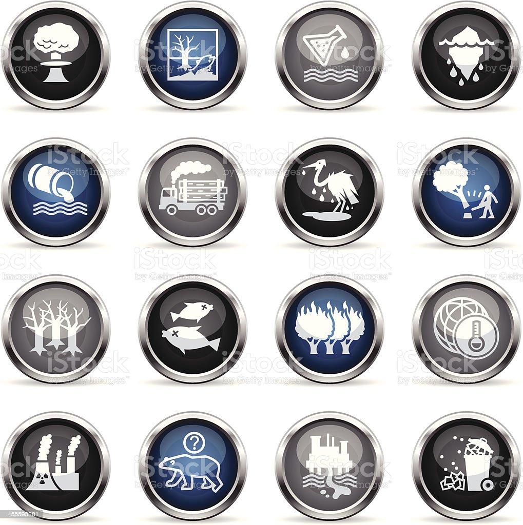 Supergloss Icons - Environmental Damage royalty-free stock vector art