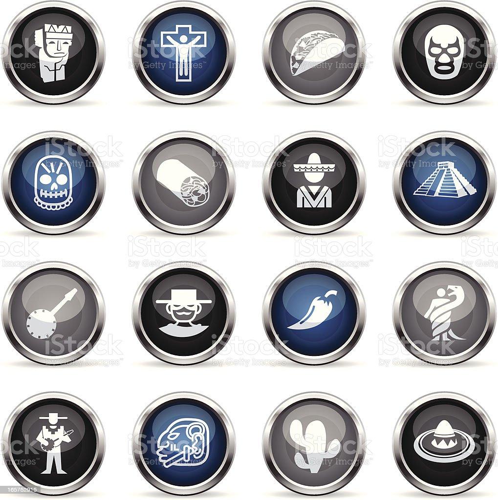 Supergloss Icons - Mexico royalty-free stock vector art