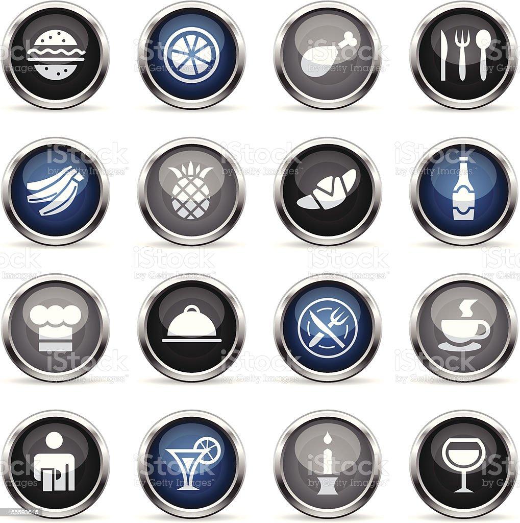 Supergloss Icons - Restaurant royalty-free supergloss icons restaurant stock vector art & more images of banana