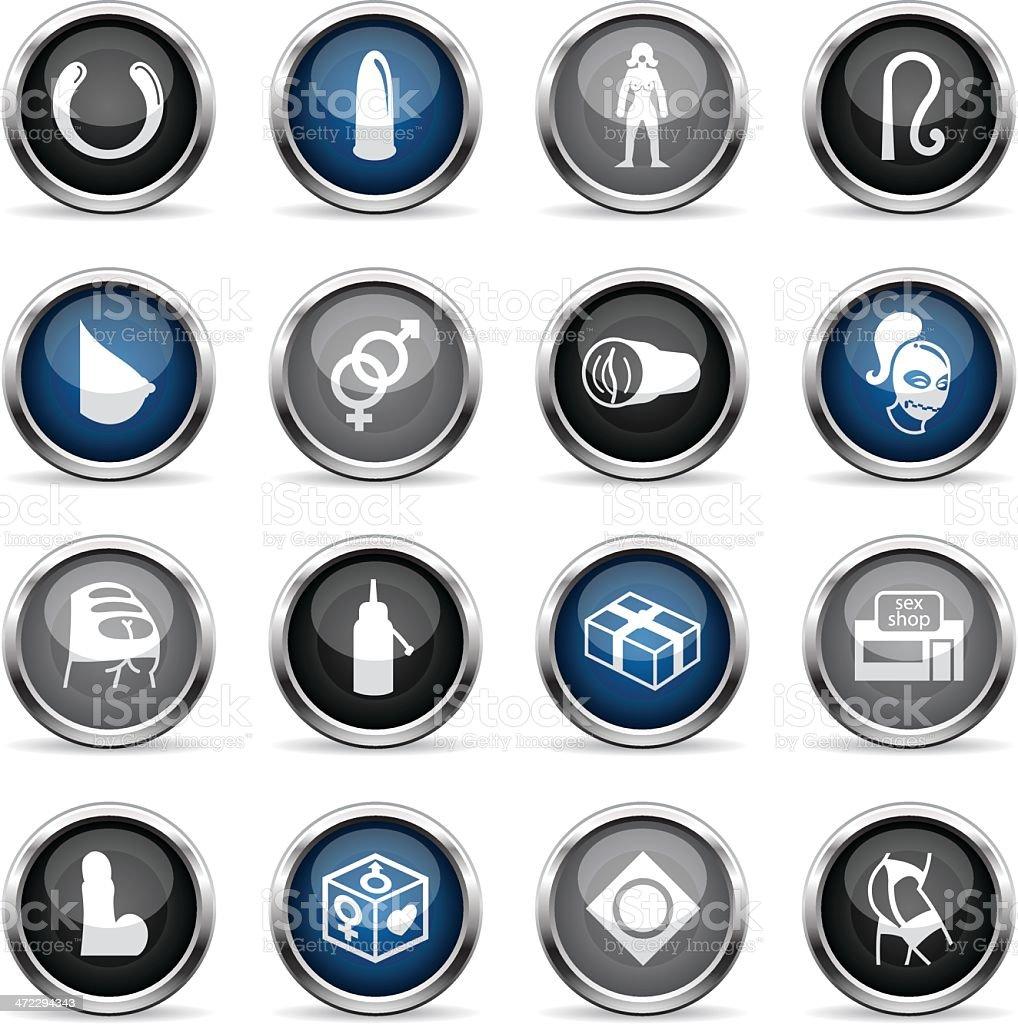 Supergloss Icons - Sex Shop vector art illustration
