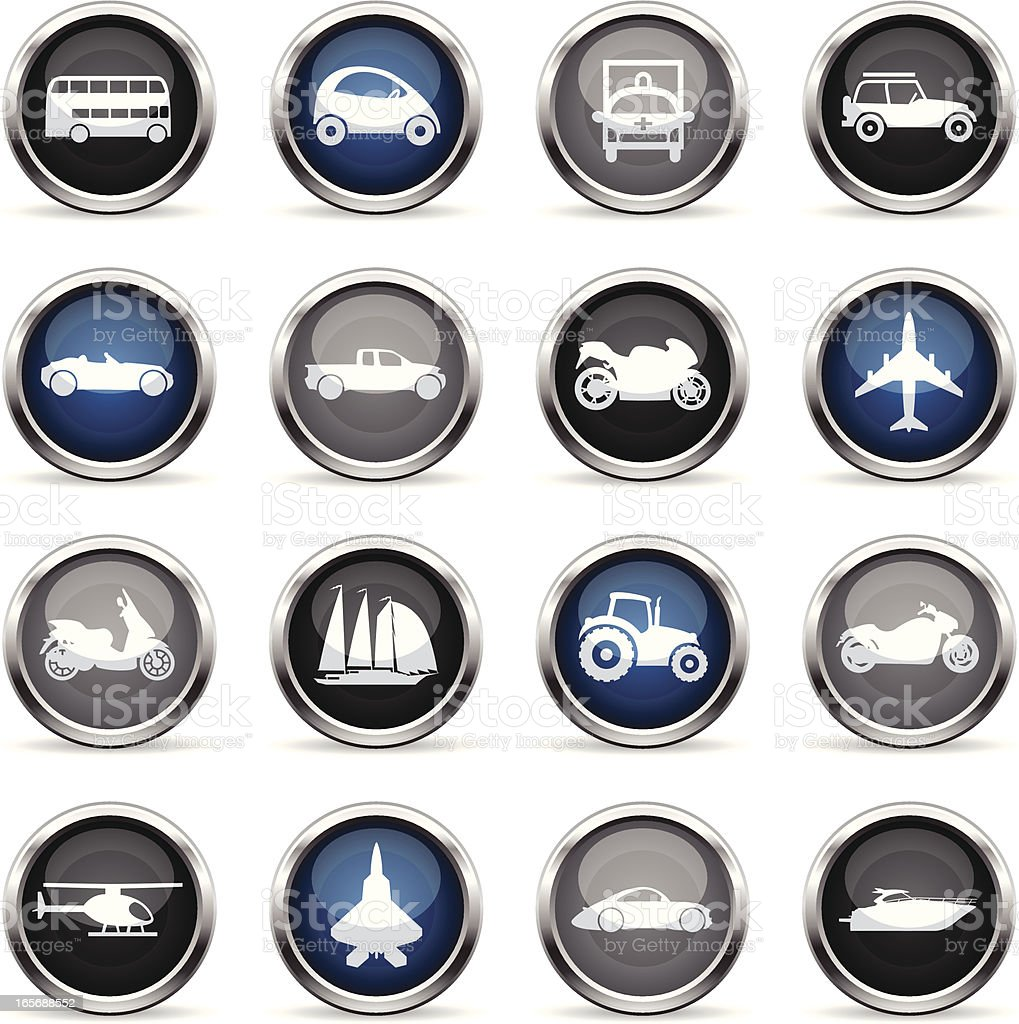 Supergloss Icons - Transportation royalty-free stock vector art