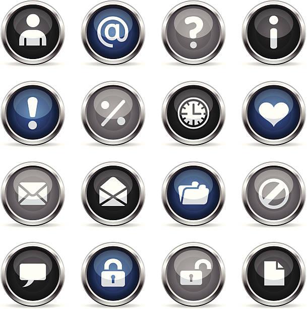 Supergloss icônes-Web - Illustration vectorielle